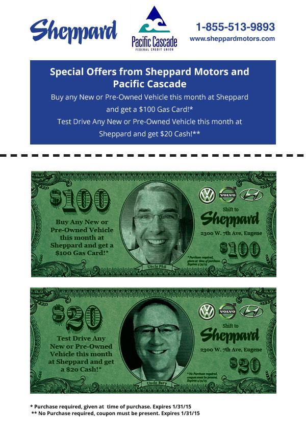 Sheppard email coupon eugene oregon marketing for Sheppard motors eugene oregon